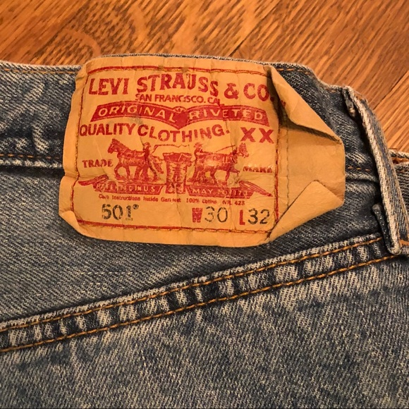 fb605cef Levi's Jeans | Classic Old Levis 501 Button Fly Mens 17 | Poshmark